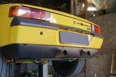 Rear valance (long) for Porsche 914-6 with custom made twin exhaust cut out - made from fiberglass.