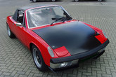 Front hood with for Porsche 914 GT - made from fiberglass.