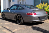 Duck tail mounted on a Porsche 996 Carrera Targa
