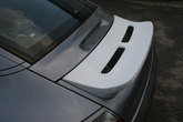 Porsche 996 duck tail mounted on engine hood - unpainted