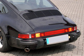 Rear engine lid for Porsche 911 G mounted on a 3.2 Carrera