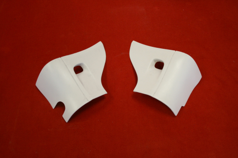 Rear rocker panel covers with air inlet 964
