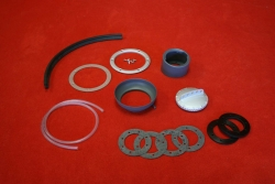 Fuel neck filler kit for 914 with screwable trim silver...