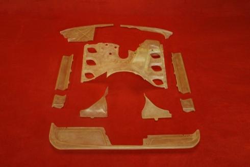 Engine shroud set (carb) for 911 / 911 S / 3,0 Carrera (74-77)